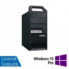 Workstation Lenovo ThinkStation E30 Tower, Intel Dual Core i3-2120 3.30GHz, 8GB DDR3, 1TB SATA, Intel Integrated HD Graphics 2000, DVD-RW + Windows 10 Pro