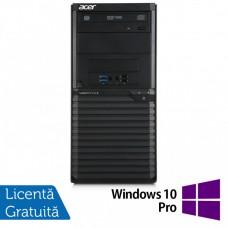 Calculator Acer Veriton M2632 Tower, Intel Core i5-4460S 2.90GHz, 4GB DDR3, 500GB SATA, DVD-RW + Windows 10 Pro