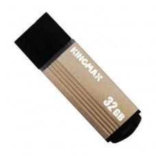 Memorie USB 2.0 KINGMAX 32 GB, Cu capac, Auriu & negru, Carcasa aluminiu