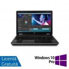 Laptop Second Hand Hp Zbook 15, Intel Core i7-4700MQ 2.40GHz, 8GB DDR3, 320GB SATA, 15 inch + Windows 10 Home